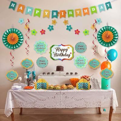 Happy Birthday Party Decorations Supplies Set for Boy Girl Kids Adult Men Women - Birthday Decoration For Boy