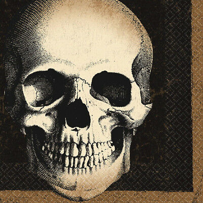 HALLOWEEN Boneyard LUNCH NAPKINS (24) ~ Birthday Party Supplies Serviettes - Halloween Party Supplies