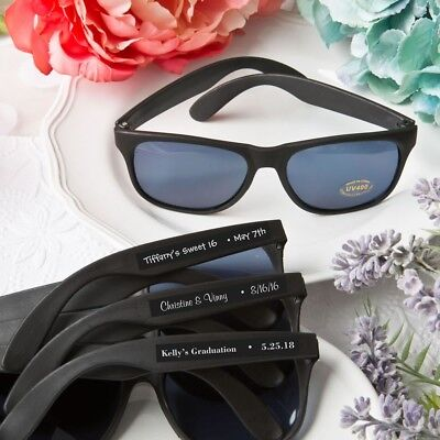 40 Personalized Beach Black Sunglasses Wedding Bridal Shower Party Favors