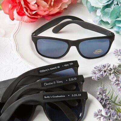 40 Personalized Black Sunglasses Bachelorette Bridal Shower Party - Wedding Sunglasses Bulk