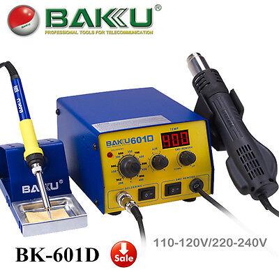 Baku Bk-601d Smd Brushless Heat Gun Soldering Iron Station With Stand 700w