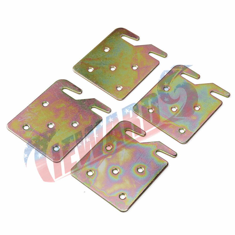 4 Pcs Universal Wood Bed Rail Hook Plates NEW
