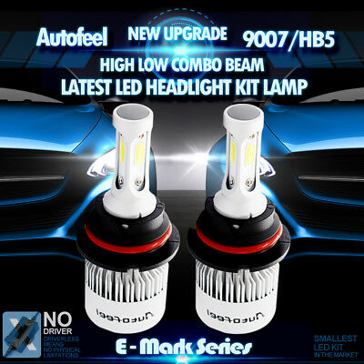 2x 900W 135000LM Lumileds LED HEAD LIGHT BULB 9007 HB5 6000K WHITE HIGH LOW BEAM