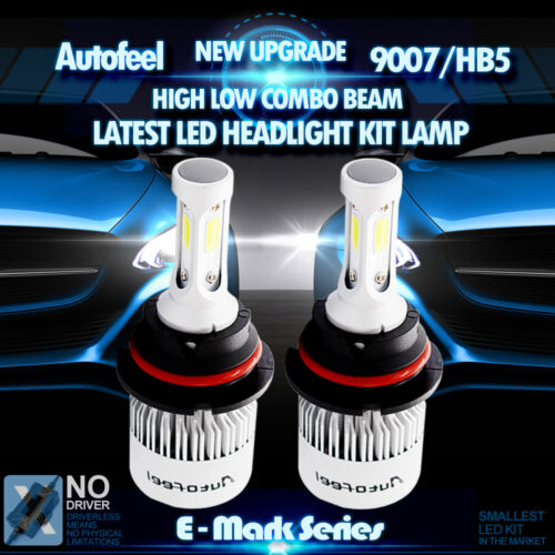 Led - 2x 900W 135000LM Lumileds LED HEAD LIGHT BULB 9007 HB5 6000K WHITE HIGH LOW BEAM