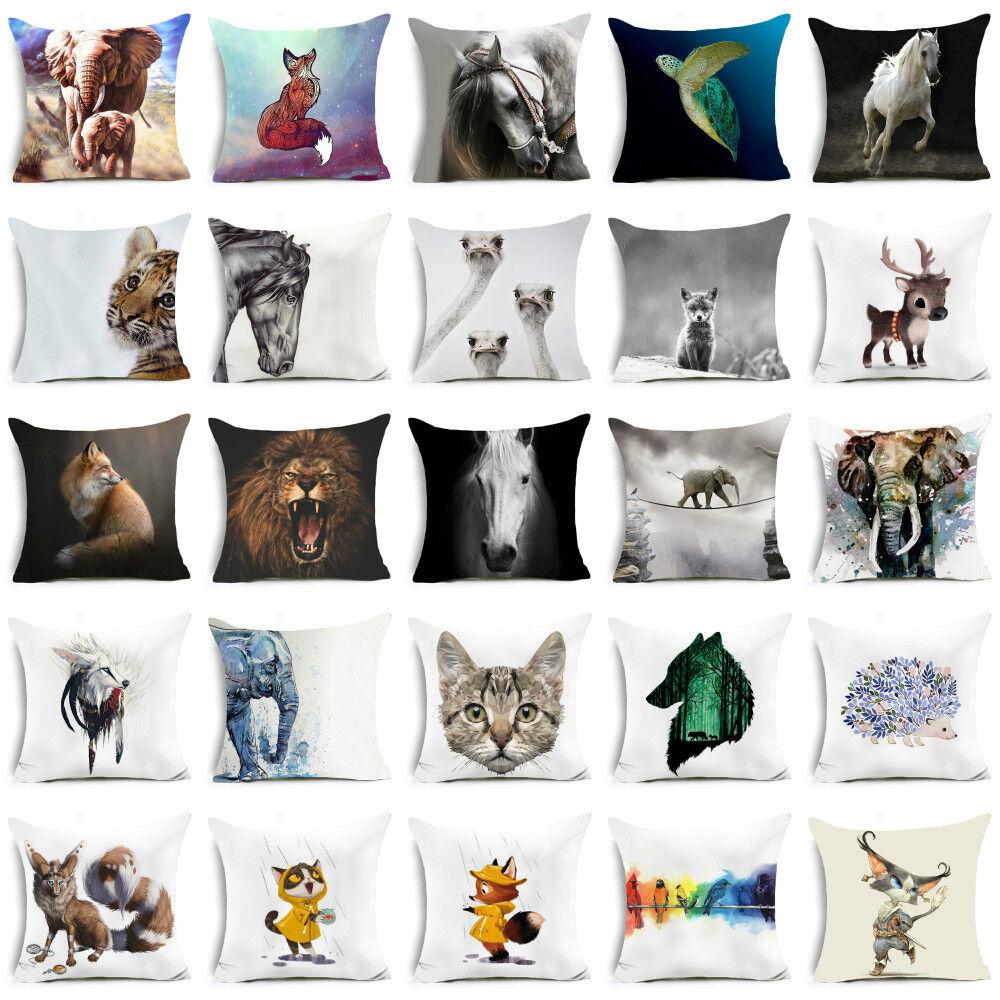 18'' polyester throw animal pillows case for sofa Bed cushio
