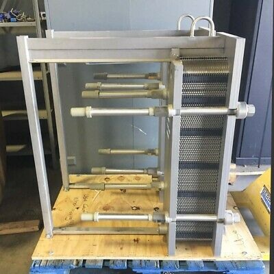 Alfa Laval Clip6 Rm Plate Heat Exchanger 87.2 Sq Ft 45 316l Ss Plates