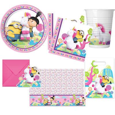 Fluffy Minions Einhorn Kindergeburtstag Deko Party Dekoration Geburtstag - Minion Party Dekorationen