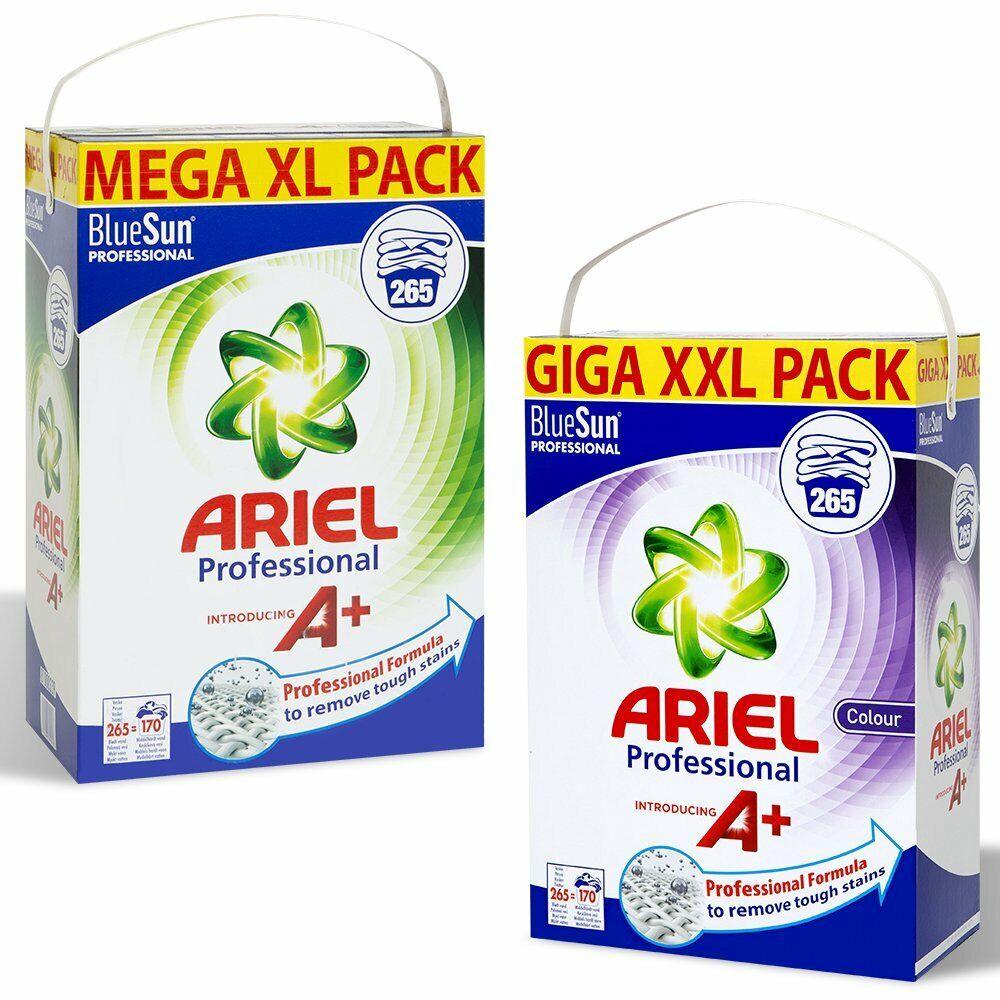 Details about Ariel Mega XXL Blue Sun Professional Washing Powder 265  Washes,Regular Or Color