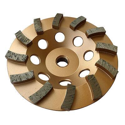 5 Concrete Grinding Cup Wheels 12 Diamond Abrasive Seg 58-11 Arbor