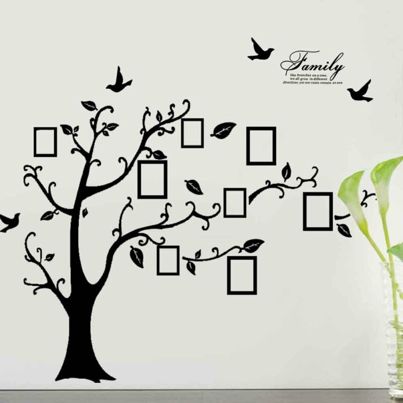 Time Sale* X-Large Family Tree Birds Photo Frame Quotes Wall ...