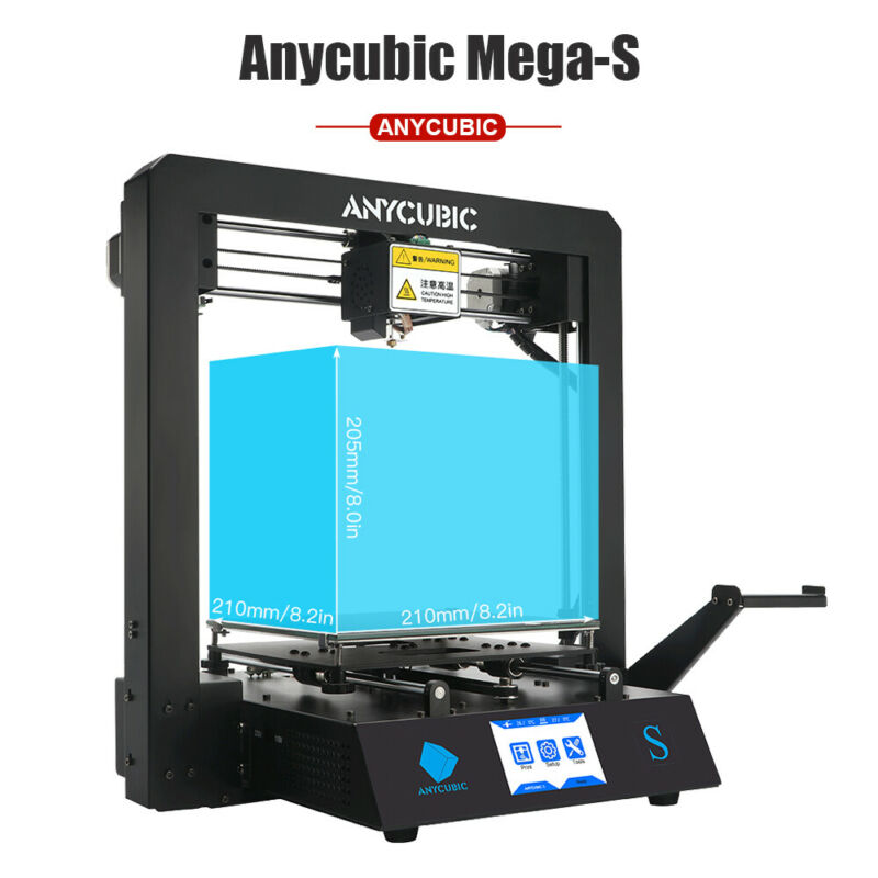US Anycubic Mega S 3D Printer Full Metal Large Print Size Kit Ultrabase 10m PLA
