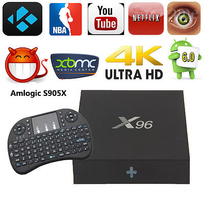 X96 S905X Android 6.0 Smart TV BOX 4K 2+16G WIFI Media Player with i8 Keyboard