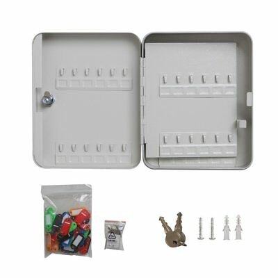48 Metal Safe Hook Key Box Tags Home Car Lock Storage Case Cabinet Organizer