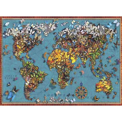 Perre Butterfly World Map Jigsaw - Map Puzzle