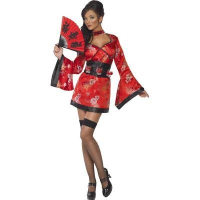 Smi - Damen Kostüm Vodka Geisha Japanerin Kimono Karneval - Damen Geisha Kostüm