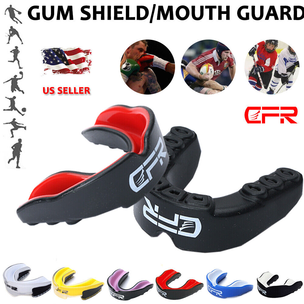 Gel Boxing Gum Shield & Mouth Guard MMA Rugby Mouthpiece Tee