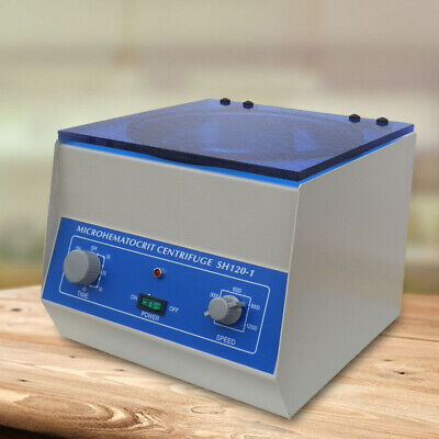110v Microhematocrit Centrifuge High Speed Medical Lab Centrifuge 24c 1.5x75 Mm