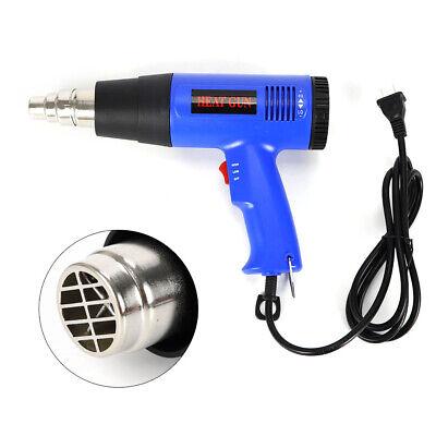 1800w High Power Heat Gun Hot Air Gun Wind Blower Adjust Temperature W Nozzle