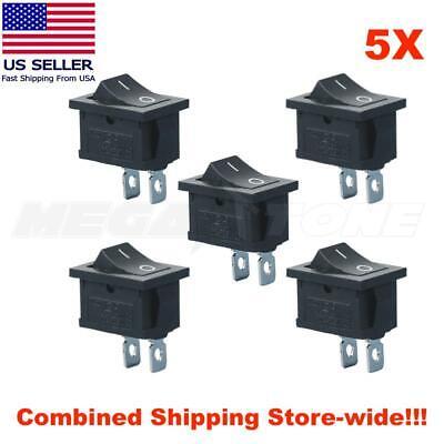 5pcs Spst Mini Rocker Switch 2-pin On-off 125vac10a 250vac6a Kcd1 - Usa Seller