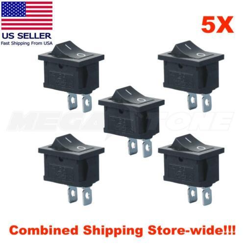 5PCS SPST Mini Rocker Switch 2-Pin ON-OFF 125VAC/10A 250VAC/6A KCD1 - USA SELLER