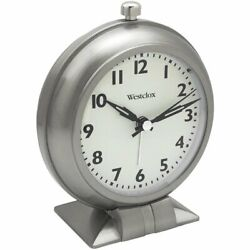 Westclox Battery Op Analog Alarm Clock with Sweep Second Hand Quiet No Ticking