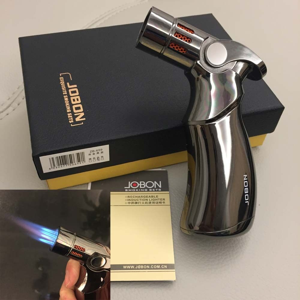 Windproof  Four Torch Jet Flame Refillable Cigarette Cigar L