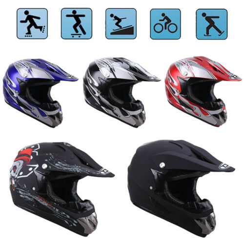 Open Face Motorcycle Off Road Motocross Helmet ATV Dirt Bike Downhill DOT Racing