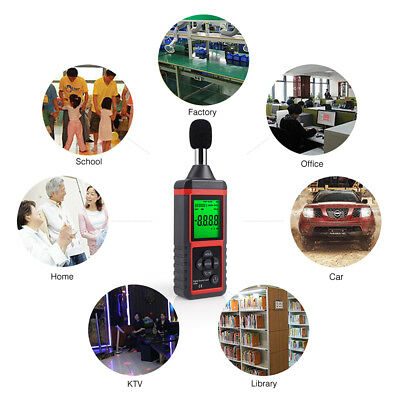 Lcd Digital Sound Level Meter Car Audio Noise Measuring Decibel Testers 30-130db