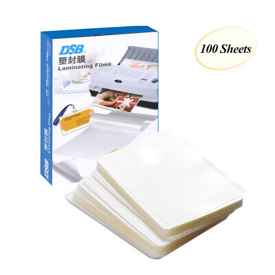 100pcs Dsb 3 Laminating Pouch Thermal Laminator Sheet Film Clear F Photo Paper