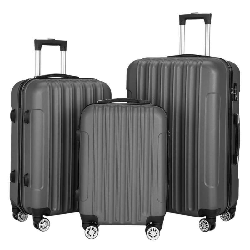 High Quality Hardside 3 Piece Nested Spinner Suitcase Luggage Set With Tsa Lock