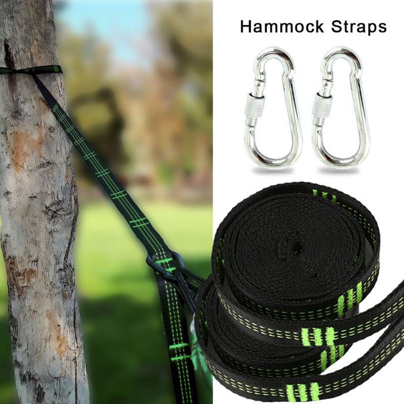 Hammock Tree Straps  with carabiners and stuff sack