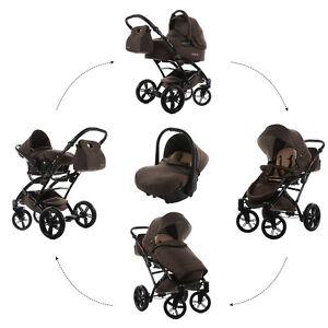 Knorr-Baby-Voletto-Star-3in1-Kombi-Kinderwagen-Set-BRAUN-mit-Autositz-3312-2