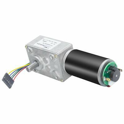 Encoder Dc Turbo Worm Gear Motor 12v High Speed Reversible Encoder For Robot