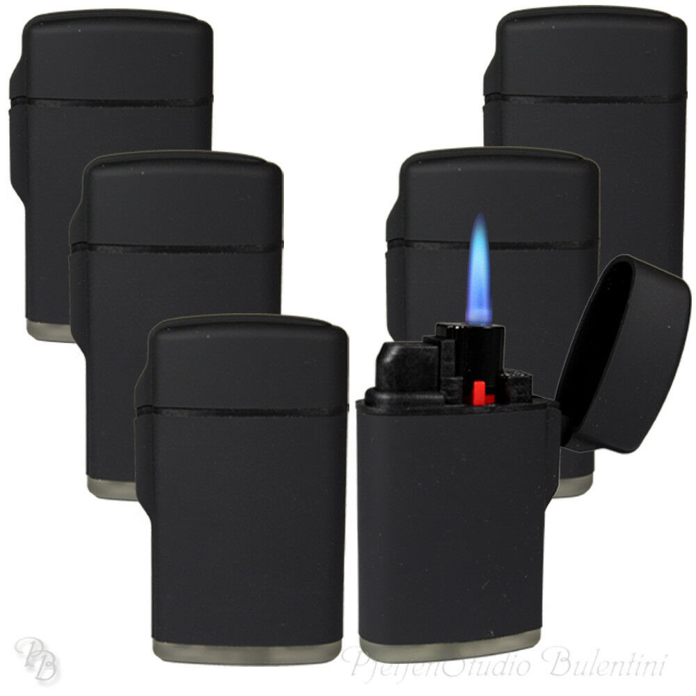 Sturmfeuerzeug Turbo Feuerzeug Outdoor BLACK RUBBER 1-5 Stk JET FLAME Torch