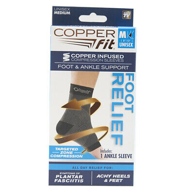 Copper Fit Copper Compression Sleeve Foot & Ankle Support Foot Relief - Medium