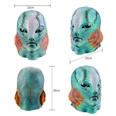 Merman Mermaid Full Head Halloween Masks Fancy Dress Adult Cosplay Costume Party