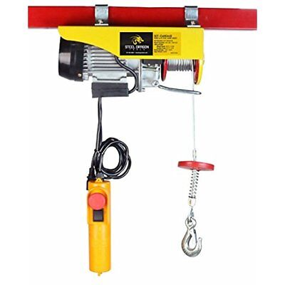 440 LBS Electric Overhead Crane Lift Remote Control Cable Hoist Garage Auto Shop