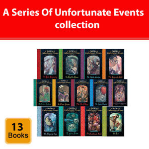 A Series of Unfortunate Events Collection Lemony Snicket 13 Books Set pack NEW