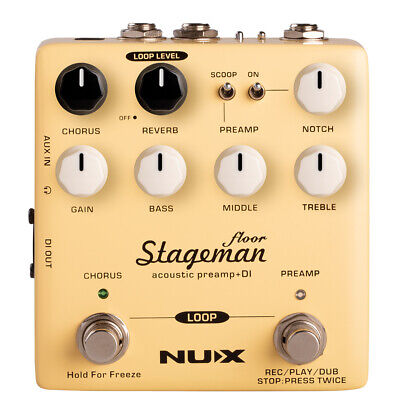Nu-X Effects Stageman Floor Acoustic Guitar Preamp & DI Box