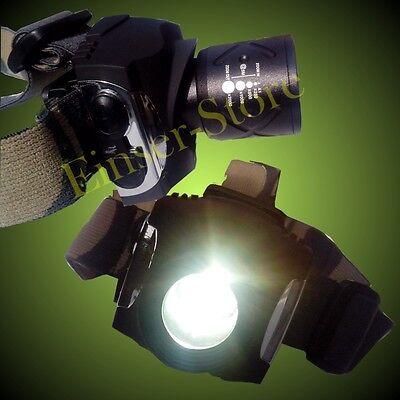 Super helle 15 Watt 2000x Zoom SMD CREE LED Stirnlampe / Helmlampe / Kopflampe #