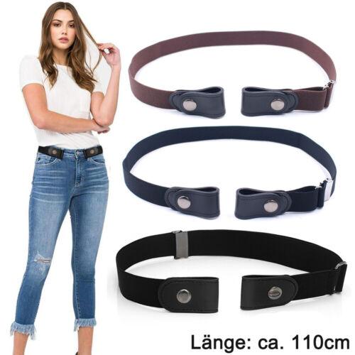 110cm Gürtel Damen Herren Unsichtbar Elastischer Stretchgürtel ohne Schnalle DHL