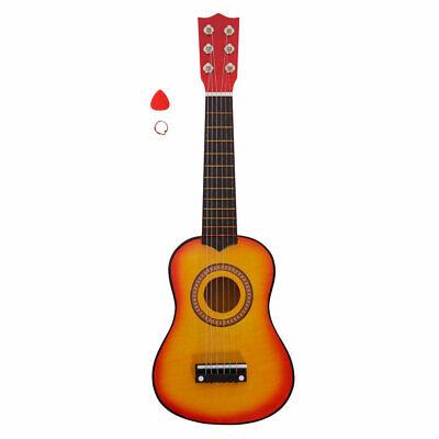 "Kid Acoustic Guitar 21"" Children Beginner Music instrument w/ Pick String Orange"