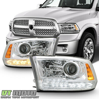 [Upgrade Style] 2009-2018 Dodge Ram 1500 LED DRL Projector Headlights Headlamps