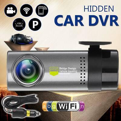 HD Wireless Wifi Hidden Car DVR Camera Dash Cam G-Sensor Video Recorder 1080p US