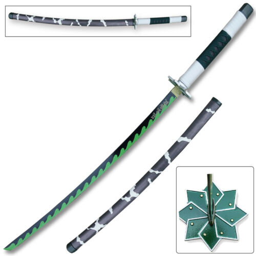 Demon Slayer - Sanemi Shinazugawa Green Nichirin Sword Katana Metal