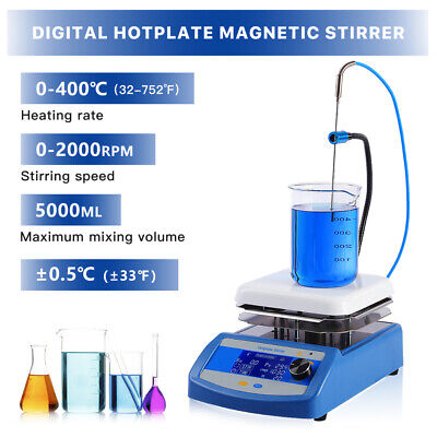 Electric Magnetic Stirrer Hot Plate Chemistry Lab Equipment Mixer 2000rpm 5000ml