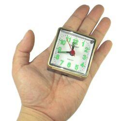 Portable Small Analogue Alarm Travel  Quartz Clock Alarm w Backlight