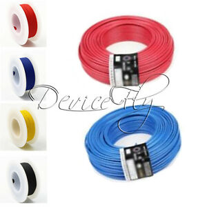 10M-Flexible-Stranded-of-UL-1007-24-AWG-wire-cable-Yellow-Blue-Red-Black-300V