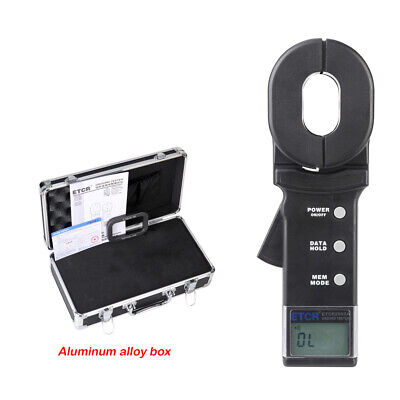 Ground Earth Resistance Meter Tester 0.01 To 200 Clamp Meter Etcr2000a