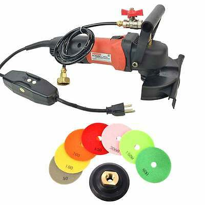 "Wet Grinder 4"" Granite Marble & Stone Polisher Diamond Polish Pads - WVPOLSET"